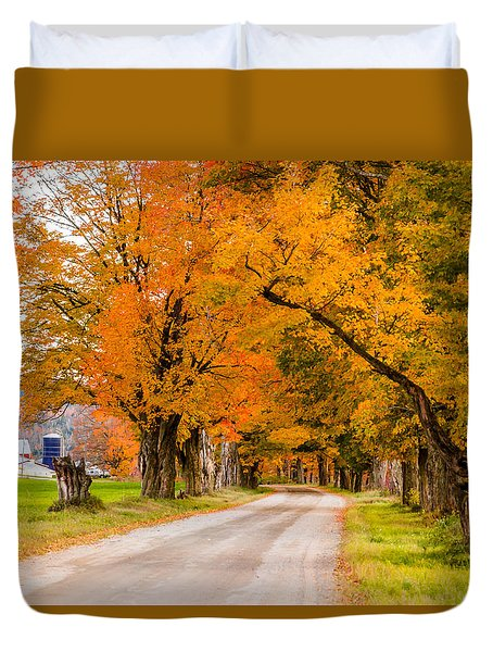 Road To The Farm Duvet Cover