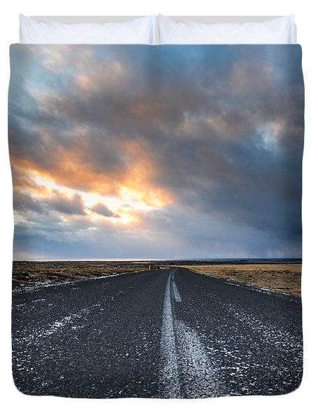 Road To The Sky Duvet Cover