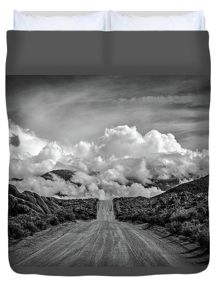 Road To The Sky Duvet Cover by Peter Tellone