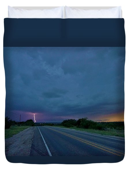 Road To The Storm Duvet Cover