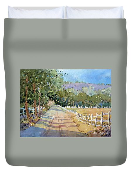 Road To The Vineyard Duvet Cover