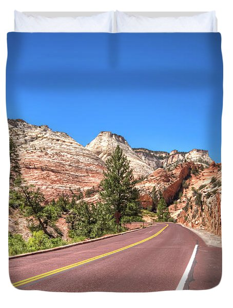 Road To Zion Duvet Cover
