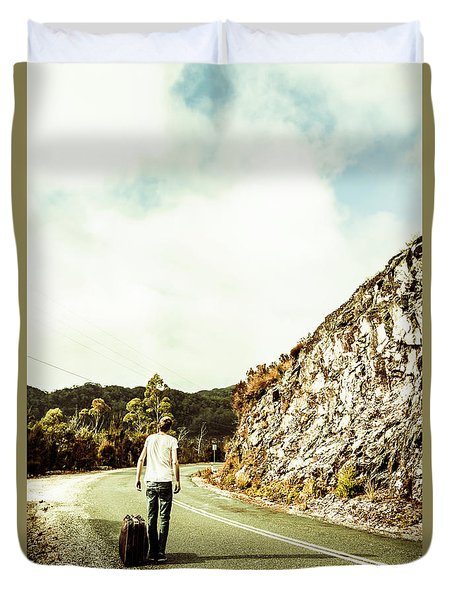 Road Tripping Tasmania Duvet Cover