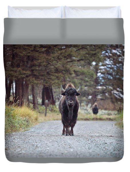 Roadblock Duvet Cover