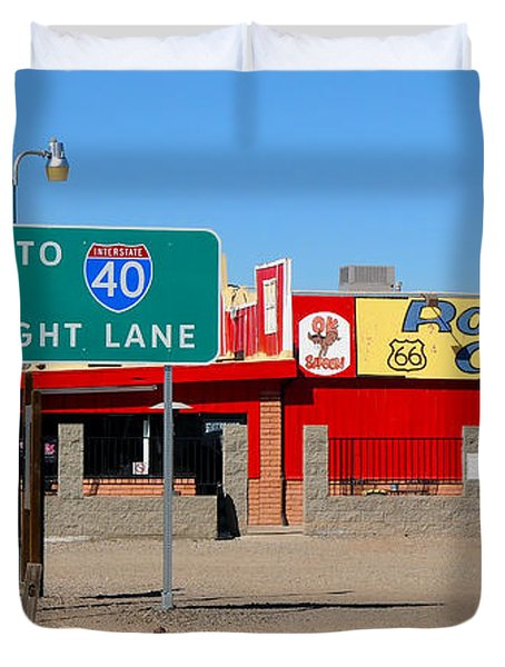 Roadkill Cafe, Route 66, Seligman Arizona Duvet Cover