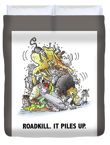 Roadkill Duvet Cover