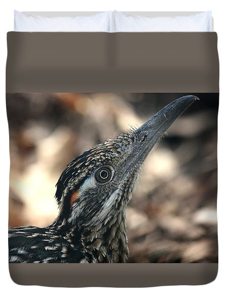 Roadrunner Close-up Duvet Cover