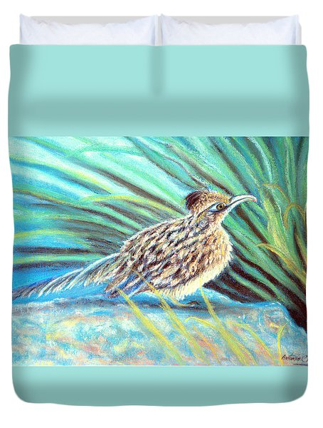 Roadrunner Fluffing Sold   Pastel Duvet Cover