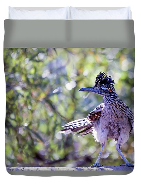 Roadrunner On The Wall Duvet Cover