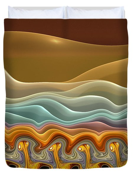 Roadrunner Races Duvet Cover