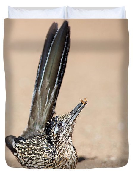 Roadrunner Snack Time Duvet Cover
