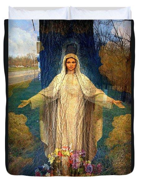 Roadside Madonna  Duvet Cover