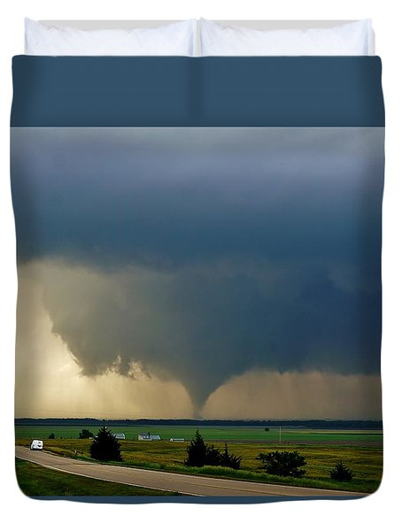 Duvet Cover featuring the photograph Roadside Twister by Ed Sweeney