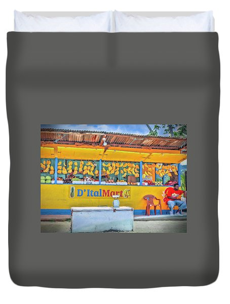 Roadside Vendor Duvet Cover