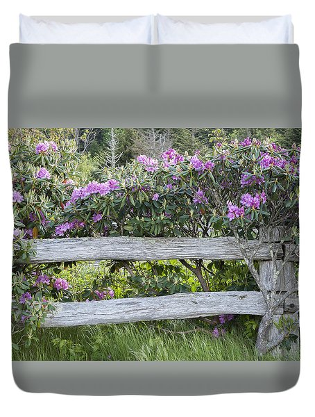 Roan Mountain Azaleas Duvet Cover