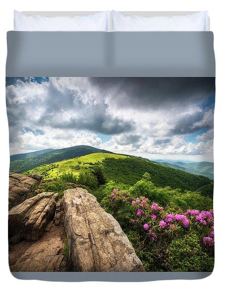 Roan Mountain Radiance Appalachian Trail Nc Tn Mountains Duvet Cover