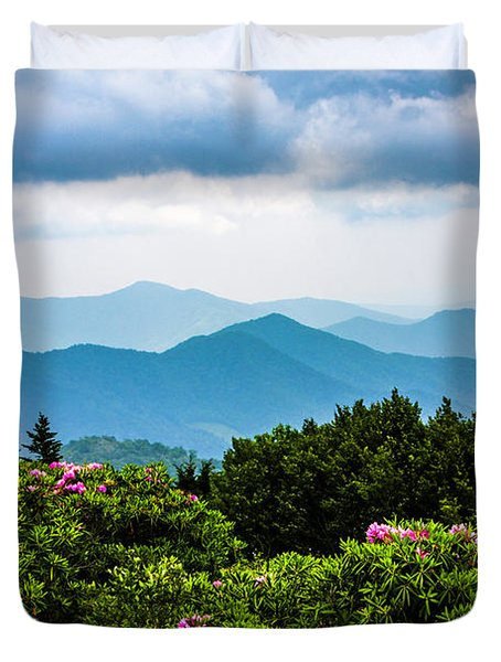 Roan Mountain Rhodos Duvet Cover by Dale R Carlson