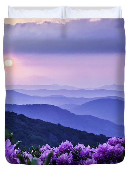 Roan Mountain Sunset Duvet Cover by Rob Travis
