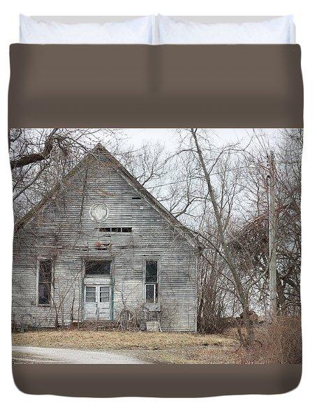 Roanoke Missouri Building Duvet Cover