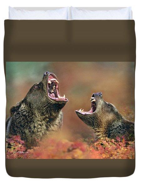 Roaring Bears Duvet Cover