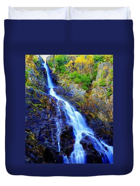 Roaring Brook Falls Duvet Cover