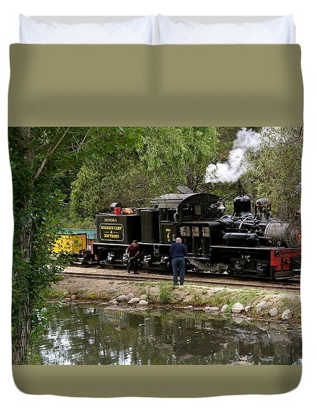 Roaring Camp Steam Train Duvet Cover by Michele Myers