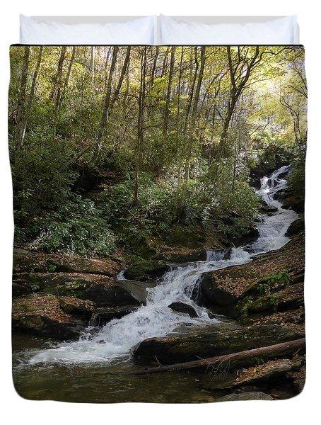 Roaring Fork Falls - October 2015 Duvet Cover