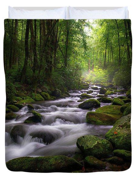 Great Smoky Mountains Roaring Fork Gatlinburg Tennessee Duvet Cover