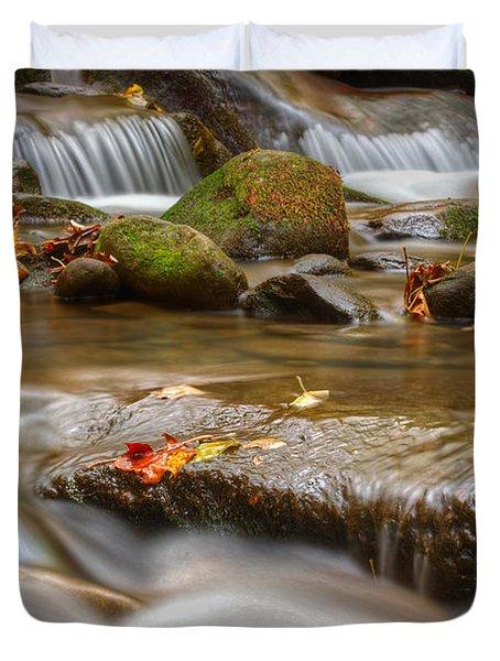 Roaring Fork Stream Great Smoky Mountains Duvet Cover by Steve Gadomski