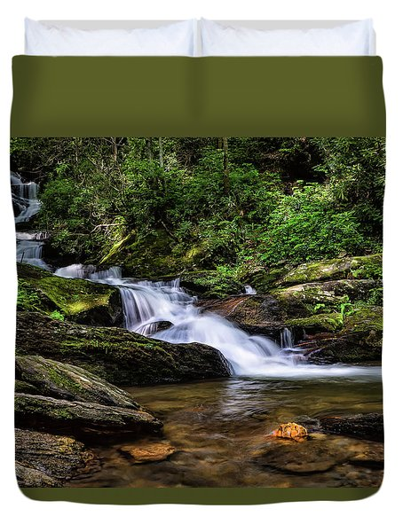 Roaring Fork Waterfall Duvet Cover