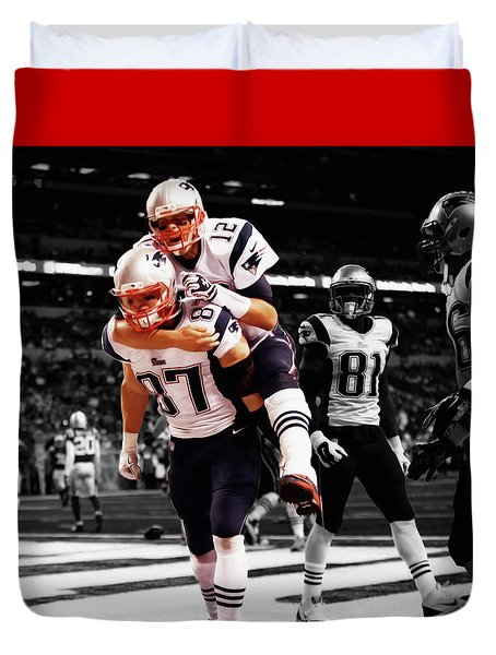 Rob Gronkowski And Tom Brady Duvet Cover
