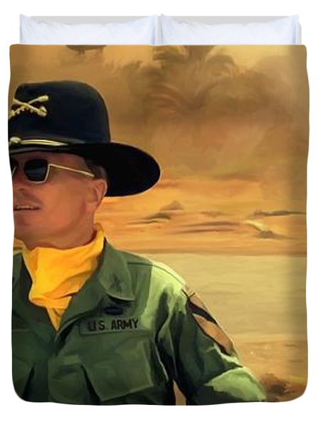 Robert Duvall @ Apocalypse Now Duvet Cover