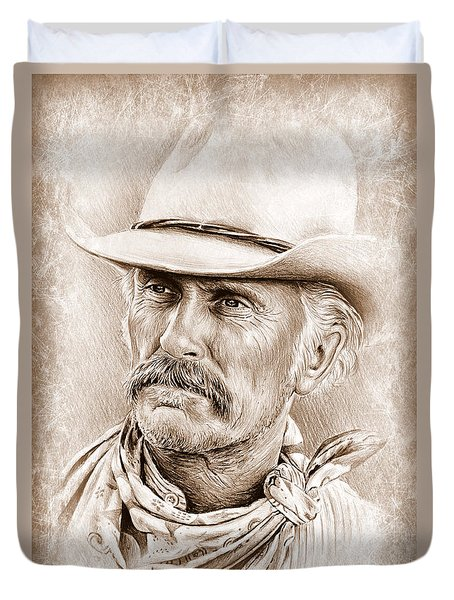 Robert Duvall  The Western Collection Duvet Cover