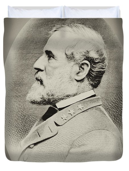 Robert E Lee - Csa Duvet Cover by Paul W Faust -  Impressions of Light