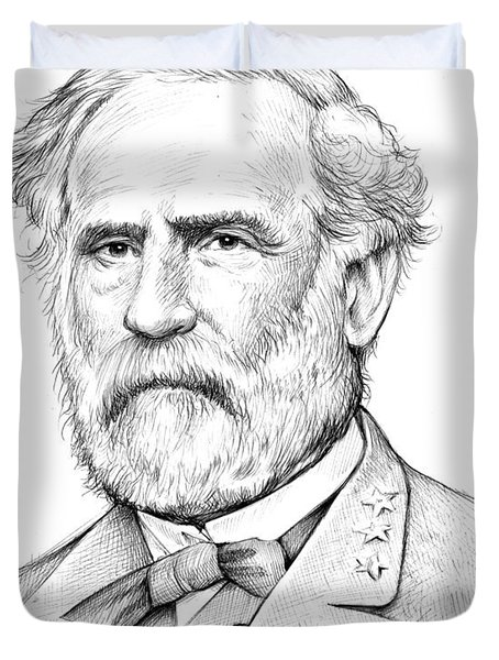 Robert E. Lee Duvet Cover by Greg Joens