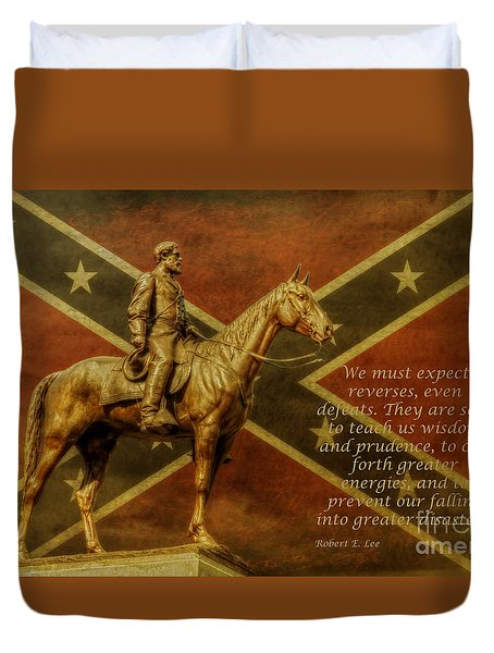 Robert E Lee Inspirational Quote Duvet Cover