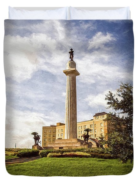 Robert E. Lee--new Orleans- Painted Duvet Cover
