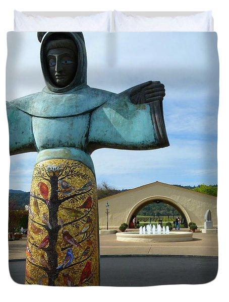 Robert Mondavi Winery And St. Francis Duvet Cover