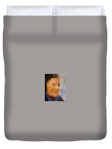 Robert Monk Self Portrait Duvet Cover