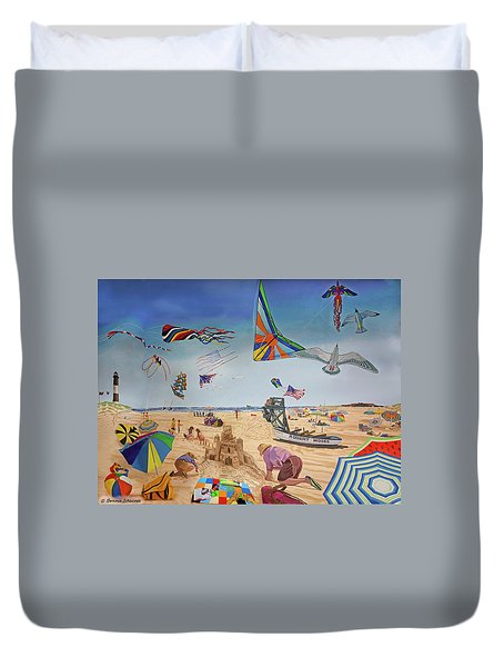 Robert Moses Beach Duvet Cover