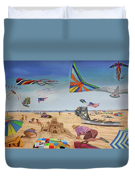 Robert Moses Beach Towel Version Duvet Cover
