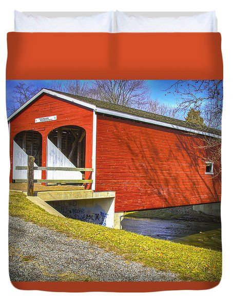 Roberts Covered Bridge Duvet Cover