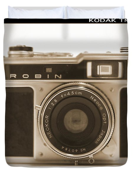 Robin 35mm Rangefinder Camera Duvet Cover