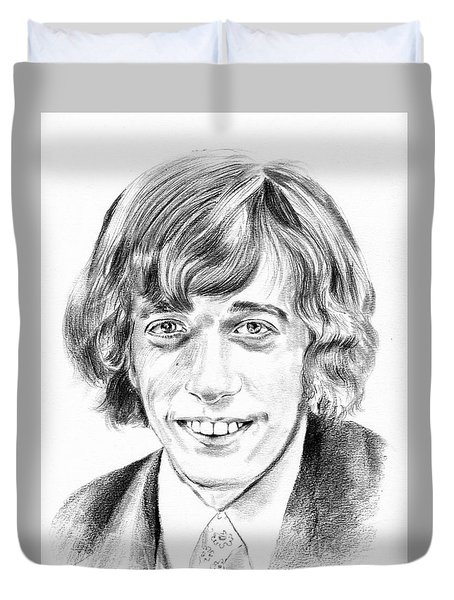 Robin Gibb Drawing Duvet Cover