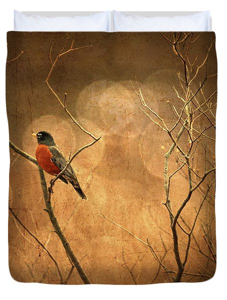 Robin Duvet Cover by Lois Bryan