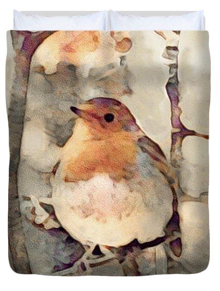 Robin Song Of Spring Duvet Cover