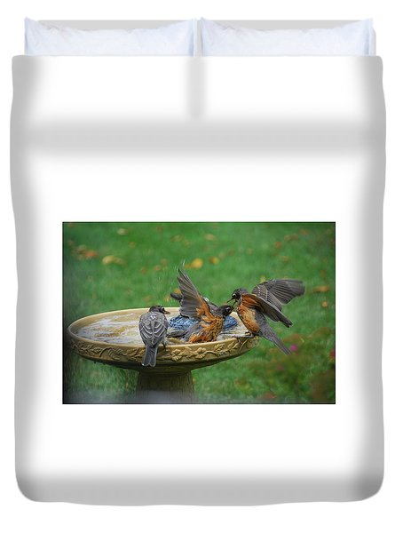 Robins Bathing Duvet Cover