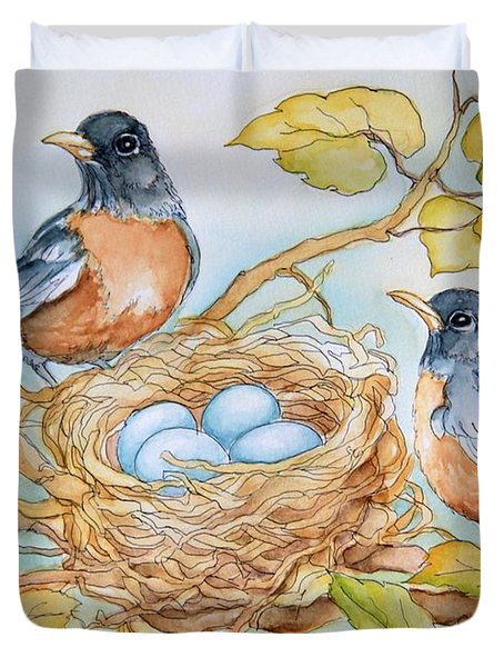 Robins Nest Duvet Cover