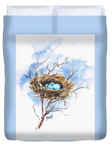 Robin's Nest Duvet Cover by Sam Sidders