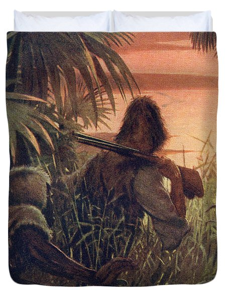 Robinson Crusoe And Man Friday In The Duvet Cover